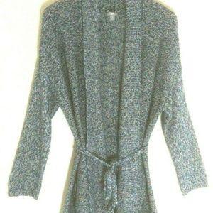 J.Jill sweater cardigan Large wrap tie open knit
